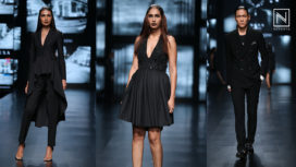 Ashish N Soni Showcases an All Black Collection at Lotus Makeup India Fashion Week SS19