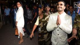 Deepika Ranveer Spotted at Airport Leaving for their Wedding