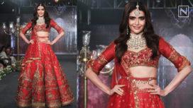 Karishma Tanna Turns a Beautiful Bride for Sulakshana Monga at the Wedding Junction 2018