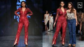 Soundarya Sharma Walks for Nikhita Tandon at Lotus Makeup India Fashion Week SS19