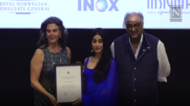Janhvi Kapoor Receives the Rising Star of the Year Award 2018