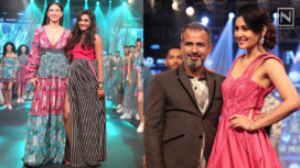 Designers and their Showstoppers - Gauahar Khan and Pooja Chopra