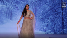 Navneet Kaur Turns Showstopper for Label Fulki at Bangalore Times Fashion Week 2018