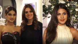 Rhea Chakraborty and Nidhhi Agerwal Attend Rebecca Dewan's Collection Launch