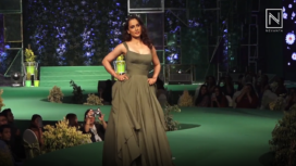 Kangana Ranaut Walks for Eco Consciousness in an Olive Green Gown