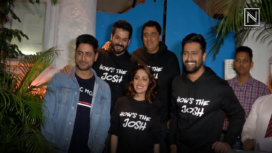 Vicky Kaushal and Yami Gautam at Uri's Success Bash