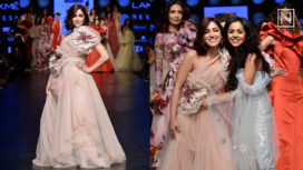 Yami Gautam Turns Perfect Muse to Gauri and Nainika at LFW SR19