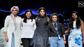 Pooja Hegde Walks for Saaksha & Kinni at Lakme Fashion Week Summer Resort 2019
