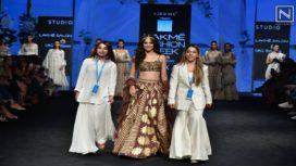 Kriti Kharbanda Turns Showstopper for Sukriti & Aakriti at Lakme Fashion Week Summer Resort 2019