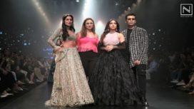 Bhumi Pednekar, Karan Johar, Isabelle Kaif Walk for Shehla Khan at LFW SR19