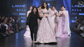 Diana Penty Sizzles in Traditional Avatar by Mishru at Lakme Fashion Week Resort 2019