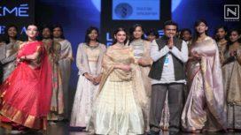 Aditi Rao Hydari Walks for Sailesh Singhania at Lakme Fashion Week Summer Resort 2019