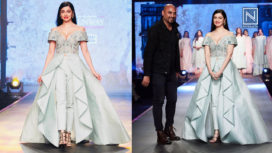Divya Khosla Kumar Turns Muse for Samant Chauhan at Pernia's Pop-Up Runway SS19