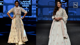 Aahana Kumra and Kubbra Sait Turn Perfect Muse to Gazal Mishra at LFW SR19