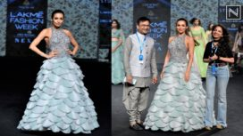Malaika Arora Turns Muse to Manoj Agarrwal at Lakme Fashion Week Summer Resort 2019