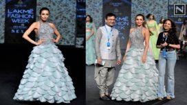 Malaika Arora Turns Muse to Manoj Agarrwal at Lakme Fashion Week Summer Resort 2019