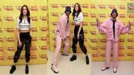 Ranveer Singh and Alia Bhatt at Radio Mirchi Studio for Promotion of Gully Boy