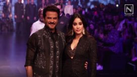 Janhvi Kapoor and Anil Kapoor Rule the Ramp for Raghavendra Rathore at LFW SR19