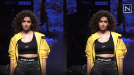 Sanya Malhotra Glides the Runway for Narendra Kumar at Lakme Fashion Week SR19