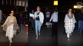Bollywood Celebrity Ace Their Fashion Game as They Jet Set in Style