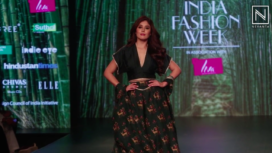 Kritika Kamra Walks for 17:17 at Lotus Makeup India Fashion Week Autumn Winter 2019