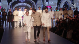 Aparshakti Khurana and Guneet Monga Walk for Rohit Kamra at LMIFW AW19