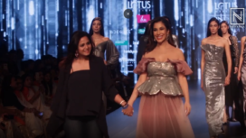 Sophie Choudry Turns Showstopper for Shivani Jain at LMIFW AW19