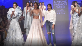 Lisa Haydon Turns Muse to Shriya Som at Lakme Fashion Week Summer Resort 2019
