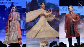 Sonam Kapoor Along with Karan Johar and Shweta Bachchan for Abu Jani Sandeep Khosla
