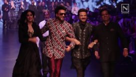 Anil Kapoor and Janhvi Kapoor Walk the Ramp for Raghavendra Rathore at LFW SR19