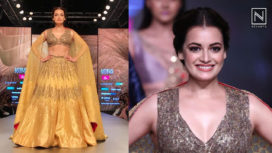 Dia Mirza Turns Perfect Muse to Ruceru at Lotus Makeup India Fashion Week AW19