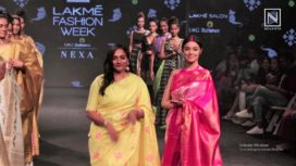 Divya Khosla Kumar Turns Muse to Parvathi Dasari at Lakme Fashion Week SR19