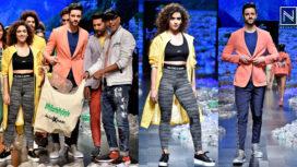 Sanya Malhotra Turns Muse to Narendra Kumar at Lakme Fashion Week Summer Resort 2019