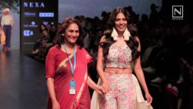 Malavika Mohanan Turns Showstopper to Jyoti Reddy for Ereena International at LFW SR19