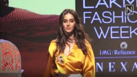 Shibani Dandekar Walks the Ramp for Rara Avis by Sonal Verma at Lakme Fashion Week SR19