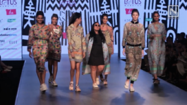 Aarti Vijay Gupta Showcases at Lotus Makeup Indian Fashion Week Autumn Winter 2019