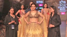 Dia Mirza Turns Gorgeous Showstopper for Ruceru at LMIFW AW 19