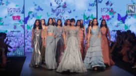 Dipannita Sharma Walks the Ramp for Karishma & Deepa Sondhi at LMIFW AW19