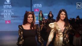 Warina Hussain Turns Muse to Nikhita Tandon at LMIFW AW19