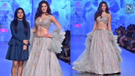 Amyra Dastur Stuns as a Showstopper for Ashwini Reddy at LMIFW AW19