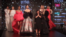 Dolly J Showcases at Lotus Makeup India Fashion Week Autumn Winter 2019