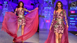 Karishma Tanna Perfectly Glides the Ramp for AOM Couture at LMIFW AW19