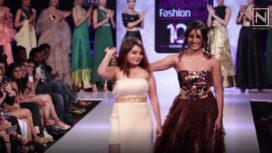 Krishi Thapanda Walks for Nagashree Gururaj at Bangalore Fashion Week 2019
