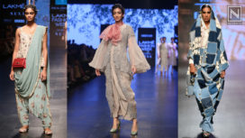 Give the Classic Saris a Modern Twist with these Super Sexy Pant Style Saris from the Ramp
