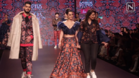 Soundarya Sharma Walks the Runway for Charu Parashar at LMIFW AW19