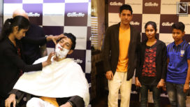 Farhan Akhtar gets Shaved to Support Female Barbers