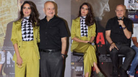 Esha Gupta and Anupam Kher Come Together to Launch One Day's Trailer