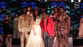 Anukreethy Vas Turns Muse to Arjun Kumar and Sonam Jain at Lagoon Fashion Week 2019