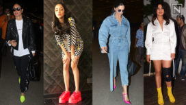 Bollywood Divas Adding Colour Pop to their Outfits with Bright-Hued Shoes