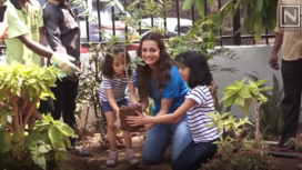 Dia Mirza Participates in a Campaign for World Environment Day